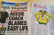 "Australian newspapers on August 4, 2012 dissected the country's poor performance at the London Olympics. Drunkenness, misuse of prescription drugs and bullying were among ""toxic"" incidents in the under-performing Australian swimming team at the London Olympics, a report said"