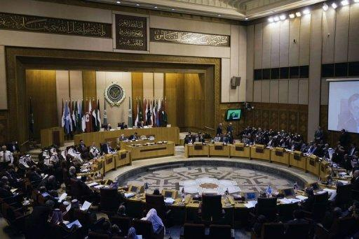 """Various foreign ministers attend a meeting of the Arab League on September 1, 2013 at the body's Cairo headquarters. Arab League foreign ministers on Sunday urged the United Nations and the international community to take """"deterrent"""" action against the Syrian regime over an alleged chemical attack."""