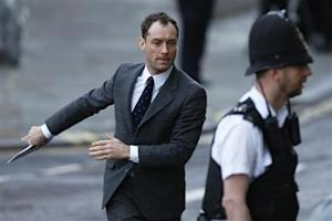 Actor Jude Law arrives to give evidence at the Old Bailey courthouse in London