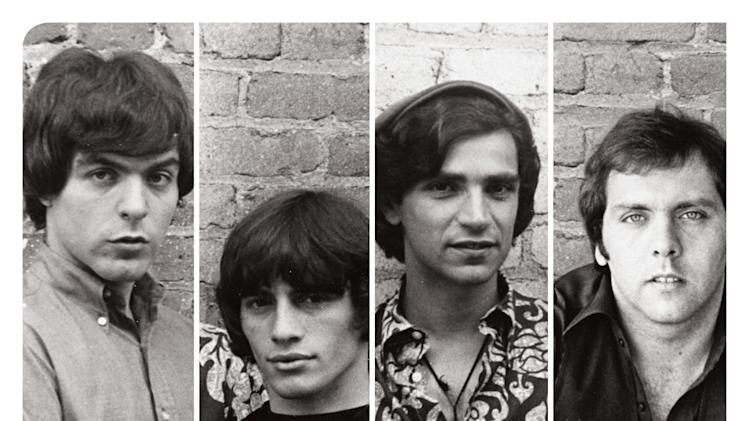 "This undated promotional image released by The Hartman Group shows recording group The Rascals on a poster promoting their 15-show Broadway run of ""One Upon a Dream."" Steven Van Zandt has found a way to repay The Rascals who greatly influenced him by taking the original four-man band to their biggest and most unlikely stage, on Broadway. The reunited band will play 15 performances at the Richard Rodgers Theatre beginning in April 2013, a show combining live performance, video reenactments, archival concert and news footage, op-art backdrops and psychedelic lighting. (AP Photo/The Hartman Group)"