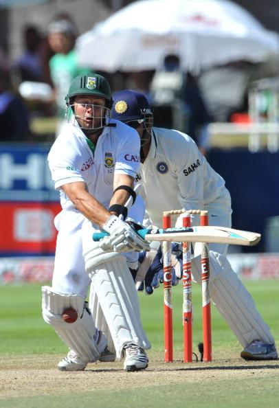 CAPE TOWN, SOUTH AFRICA - JANUARY 05:  Mark Boucher of South Africa is caught lbw by Harbhajan Singh of India for 55 runs during day 4 of the 3rd Test match between South Africa and India at Newlands