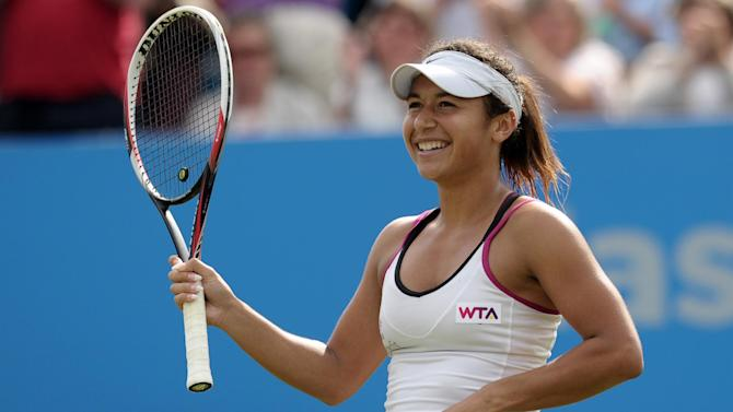 Tennis - Watson clinches first win over top 20 player at Eastbourne