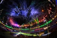 Fireworks explode over the Olympic stadium in London during the closing ceremony of the 2012 London Olympic Games on August 12, 2012. Rio de Janeiro will host the 2016 Olympic Games