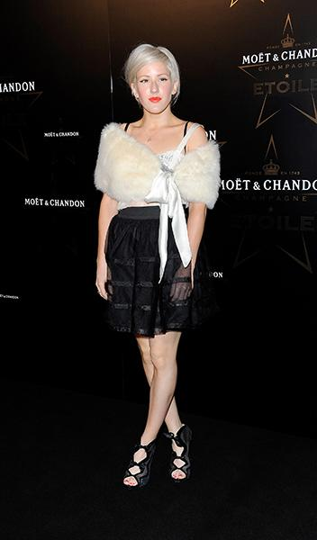 Arriving at the Moet & Chandon Etoile Award Gala honoring Mario Testino in 2011