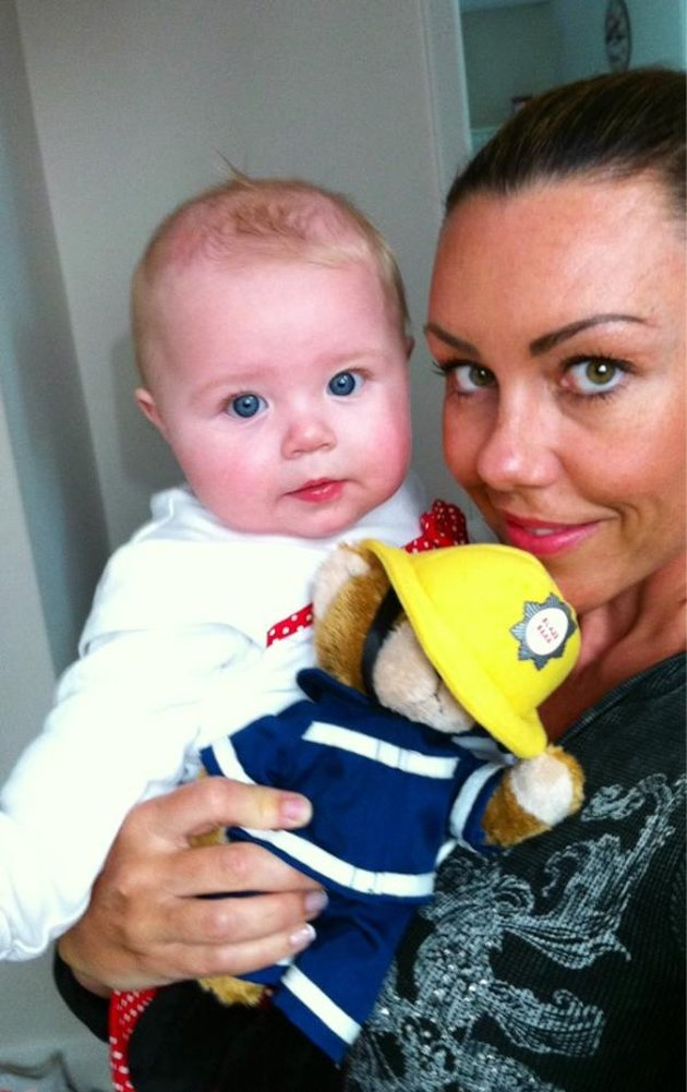 Michelle Heaton and her baby daughter Faith