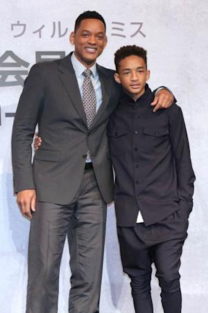 Will Smith and Jaden Smith pose for photo during the 'After Earth' Press Conference at the Ritz Carlton Tokyo on May 2, 2013 in Tokyo, Japan -- Getty Images