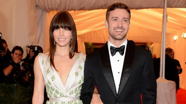 Jessica Biel and Justin Timberlake dazzle at the 'Schiaparelli And Prada: Impossible Conversations' Costume Institute Gala at the Metropolitan Museum of Art in New York City on May 7, 2012  -- Getty Images