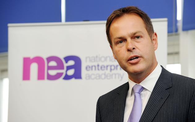 Peter Jones speaks to students during the launch of the National Enterprise Academy (NEA) within Sheffield National Enterprise Academy at Sheffield City College,