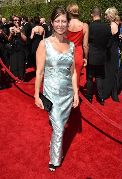 Nina Paskowitz arrives at the Television Academy's Creative Arts Emmy Awards at the Nokia Theater L.A. LIVE on Saturday, Aug. 16, 2014, in Los Angeles. (Photo by John Shearer/Invision for the Television Academy/AP Images)