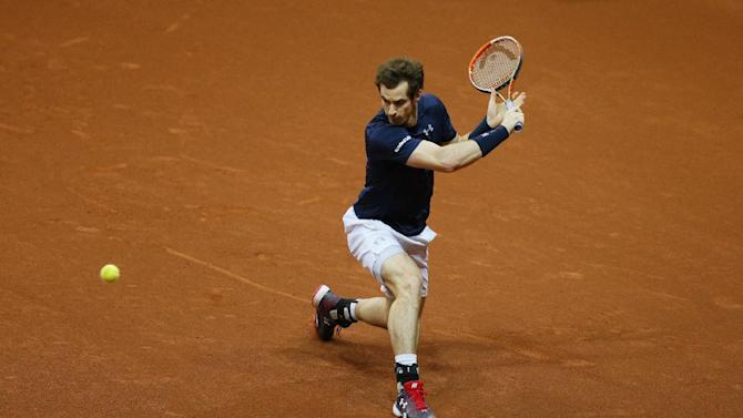 Men's Singles - Great Britain's Andy Murray in action during his match against Belgium's David Goffin