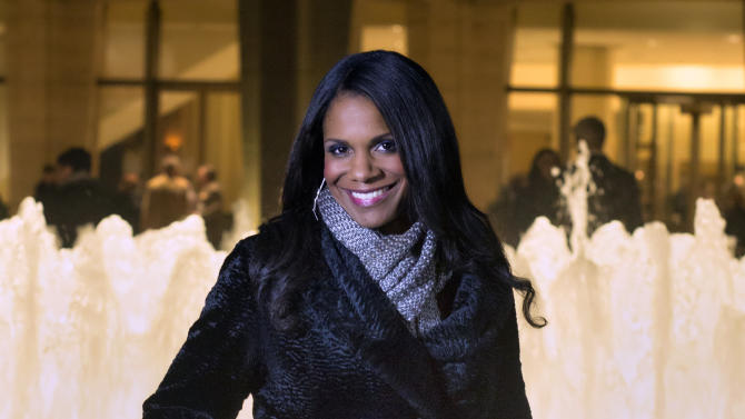 "In this photo provided by ""Live from Lincoln Center,"" Broadway star Audra McDonald poses for a portrait in front of the Lincoln Center in New York. PBS said Tuesday, Nov. 27, 2012, that the singer-actress is the new host of ""Live from Lincoln Center."" McDonald will emcee seven broadcasts from December through spring 2013, starting Dec. 13 with ""The Richard Tucker Opera Gala."" (AP Photo/""Live from Lincoln Center,"" Chase Newhart)"