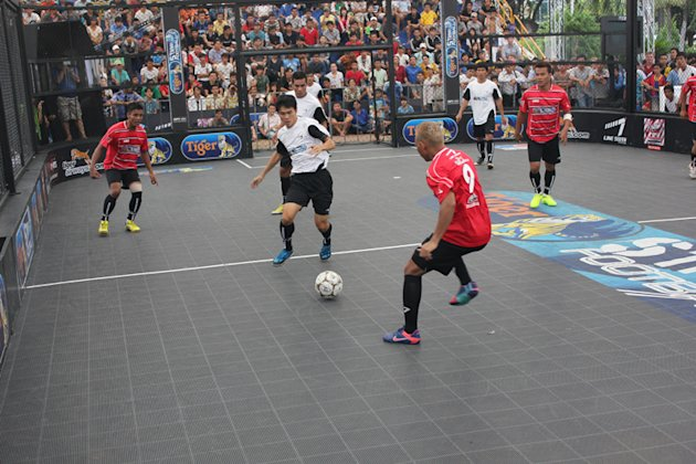 Touch 'N' Go in action at Tiger Street Football grand finals in Ho Chi Minh. (Photo courtesy of Tiger Beer)