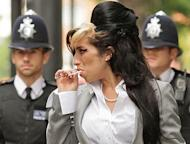 Late British soul singer Amy Winehouse arrives at Westminster Magistrates Court in central London on July 24, 2009. Winehouse could land a posthumous Brit Award on Wednesday after the late soul singer was nominated for best British female solo artist against acts including singer-songwriter Emeli Sandé