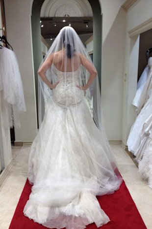 Four shopping trips and 25+ rejected dresses later, here's what one bride learned about the challenging (yet rewarding) experience of shopping for her wedding gown.