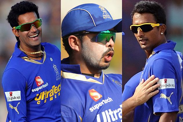 Ajit Chandila, Sreesanth and Ankeet Chavan were arrested on Thursday night by the Delhi police after allegations of spot fixing.