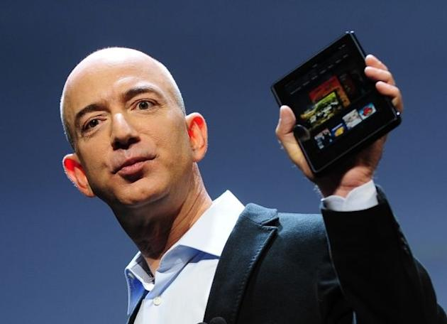 Amazon CEO Jeff Bezos introduces the new Kindle Fire tablet in New York