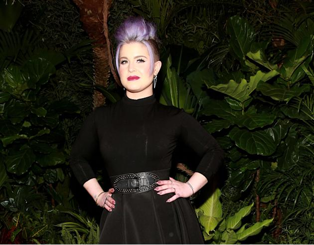 "FILE - This Saturday, Feb. 14, 2015 file photo shows, Kelly Osbourne at the Christian Siriano fashion show at Artbeam, in New York. Osbourne is exiting ""Fashion Police,"" days after complaini"