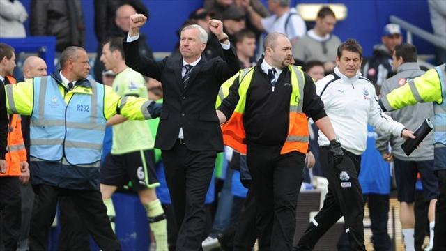 Football - Pardew breathes easy after survival