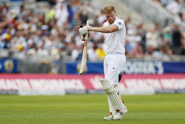 England's Ben Stokes looks dejected after losing his wicket
