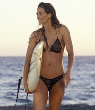 Demi Moore showed off her newly modified body in 2003's