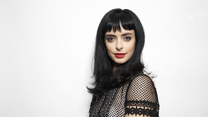 """This Oct. 23, 2012 photo shows American actress and former model Krysten Ritter posing in New York. Ritter stars in the comedy series, """"Don't Trust the B---- in Apartment 23."""" (Photo by Dan Hallman/Invision/AP)"""