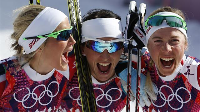 Cross-Country Skiing - Bjoergen leads rare Norwegian sweep