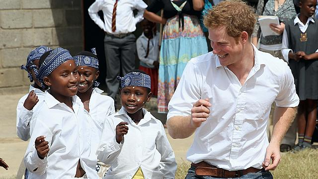 Prince Harry Dances with Kids in Africa