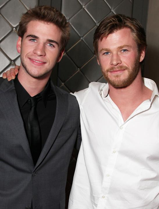 Chris Hemsworth and Liam Hemsworth photos: Aww, before their Hollywood make over these two were fresh face and fabulous.  Copyright [Getty]