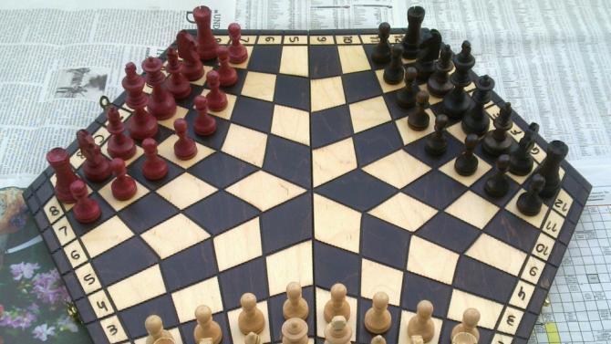 Three-way chess
