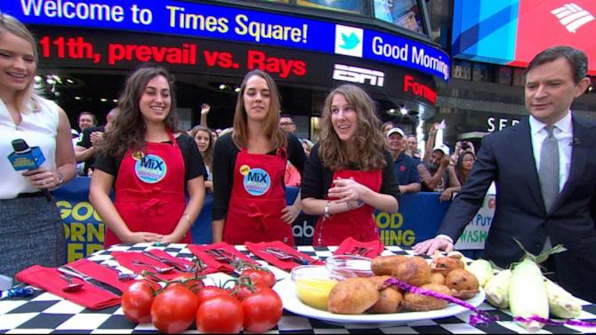 'GMA Mix & Mash-Up' Challenge Winner: Pimento Cheese-Burger Corndogs!