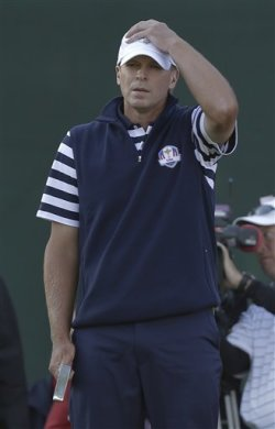 Steve Stricker failed to win a single match in three days at the Ryder Cup. (AP)