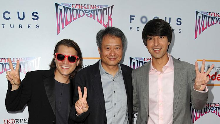 Taking Woodstock LA Premiere 2009 Emile Hirsch Ang Lee Demetri Martin