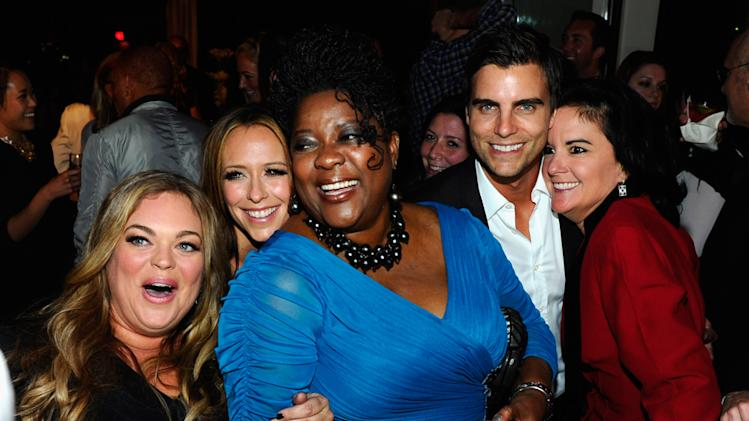 Rebecca Field, Jennifer Love Hewitt, Loretta Devine, Colin Egglesfield and executive producer Danielle Thomas
