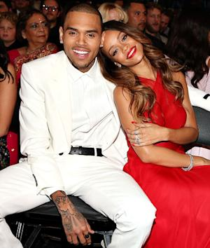 Rihanna, Chris Brown Cuddle in Audience at Grammys 2013: Picture