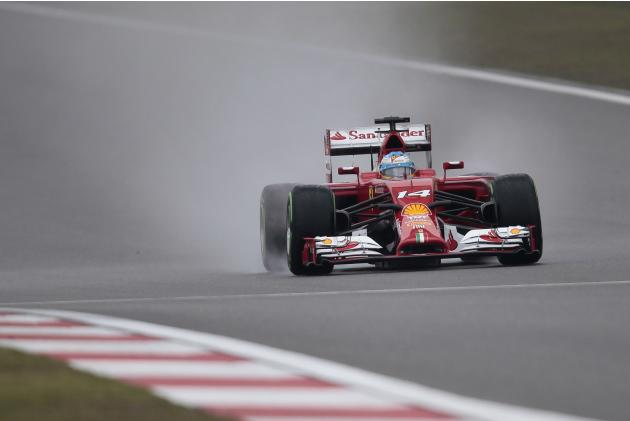 Ferrari Formula One driver Fernando Alonso of Spain drives during the third practice session of the Chinese F1 Grand Prix at the Shanghai International circuit