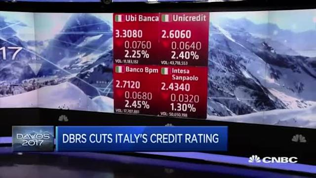 Italy's banks a contributing factor in rating downgrade: ...