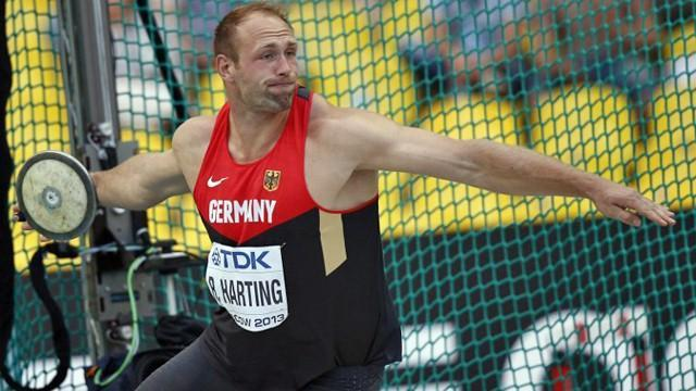 World Championships - Harting completes world discus hat-trick