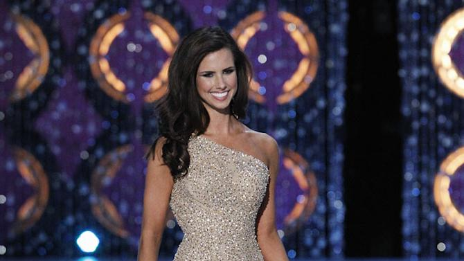 Kendall Morris, Miss Texas, competes as one of the top 10 in the evening gown competition during the The 2012 Miss America Pageant at the Planet Hollywood Resort & Casino on January 14, 2012 in Las Vegas, Nevada.