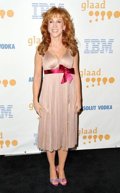 Kathy Griffin arrives at the 20th Annual GLAAD Media Awards at the Nokia Theatre on April 18, 2009 in Los Angeles, California. Kathy Griffin
