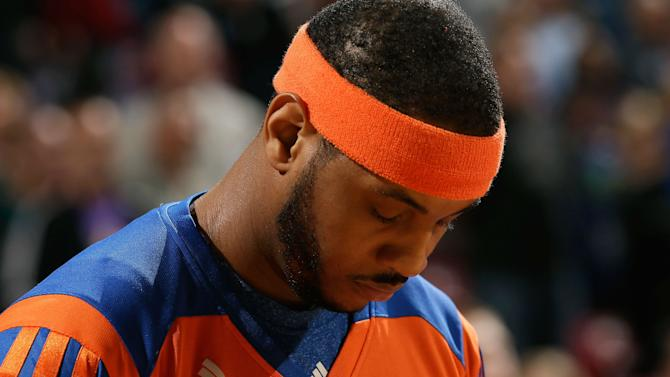 Knicks' Carmelo Anthony was asleep during the NBA trade deadline