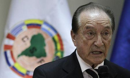 Acting President of the CONMEBOL Figueredo gives his first news conference in Asuncion