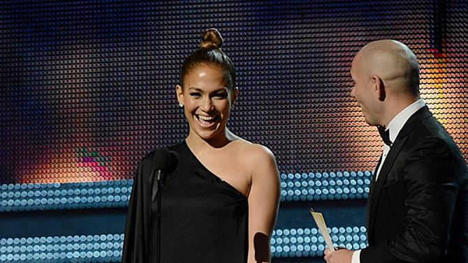 Grammys 2013 Most Memorable Photos from Grammy Night: Jennifer Lopez