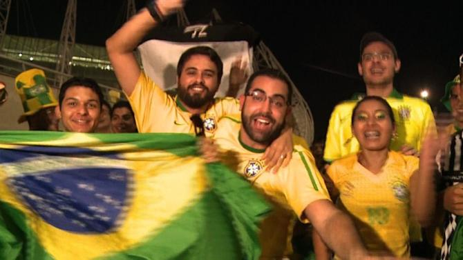 Neymar helps Brazil past Mexico amid protests
