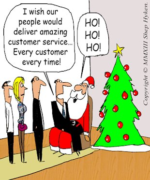 "A ""Holiday"" Wish for You: Every Customer Receives Amazing Customer Service image Santa Christmas Wish Low Res"