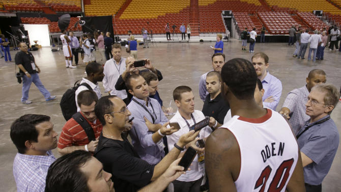 Heat Media Day Basketball