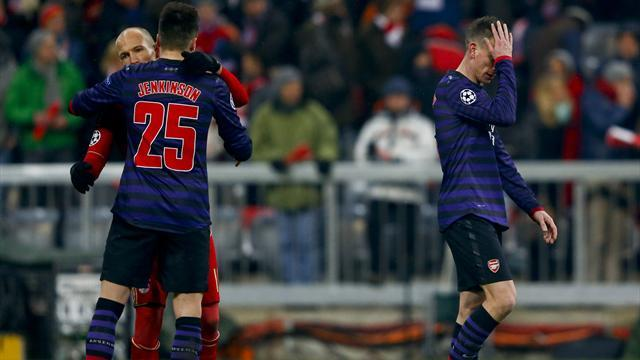 Champions League - Arsenal edged out by nervy Bayern despite glorious win in Munich