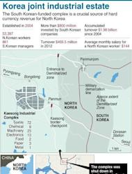 Graphic fact file on the South Korean-invested Kaesong industrial zone inside North Korea