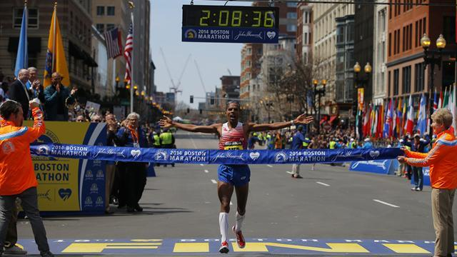 Athletics - Keflezighi wins Boston Marathon, first US victor in three decades