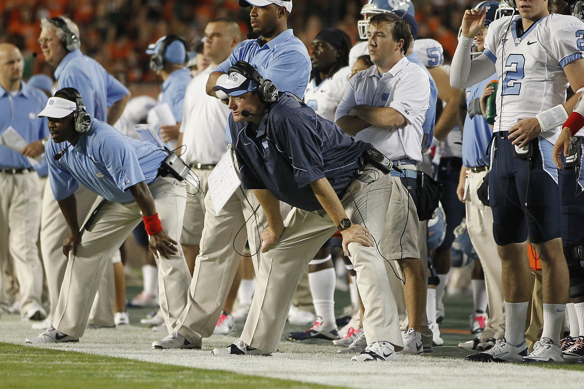 Butch Davis had a 28-23 record in four seasons at North Carolina. (Photo by Joel Auerbach/Getty Images)