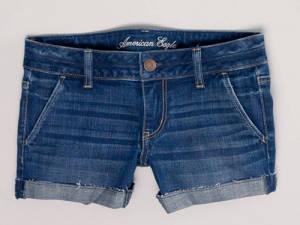 American Eagle Denim Trouser Midi Shorts